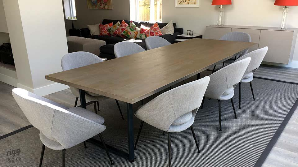 Loop Table with Light Grey Oak Top