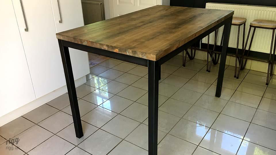 Quad High Industrial Table