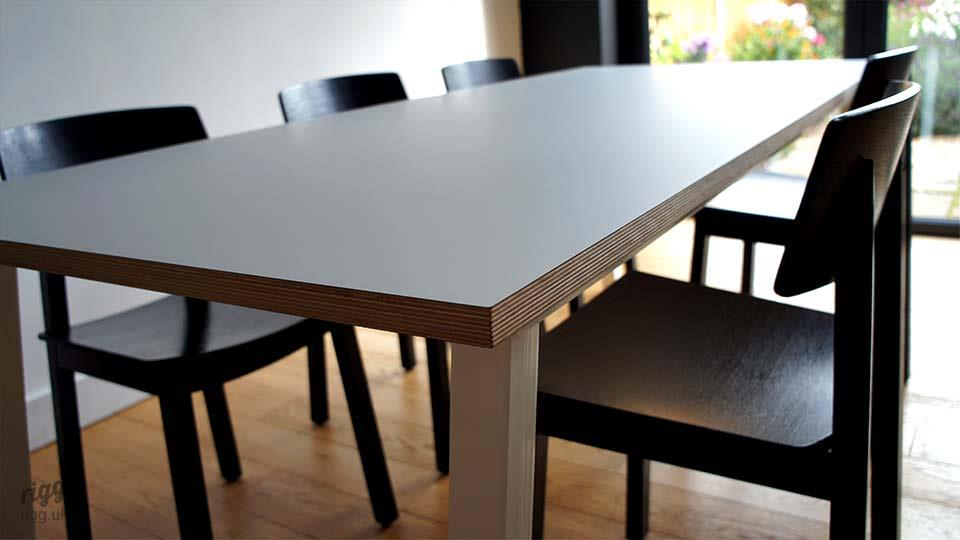 Stance - Modern Birch Plywood Edge Dining Table