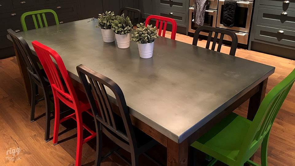 Zinc Kitchen Table