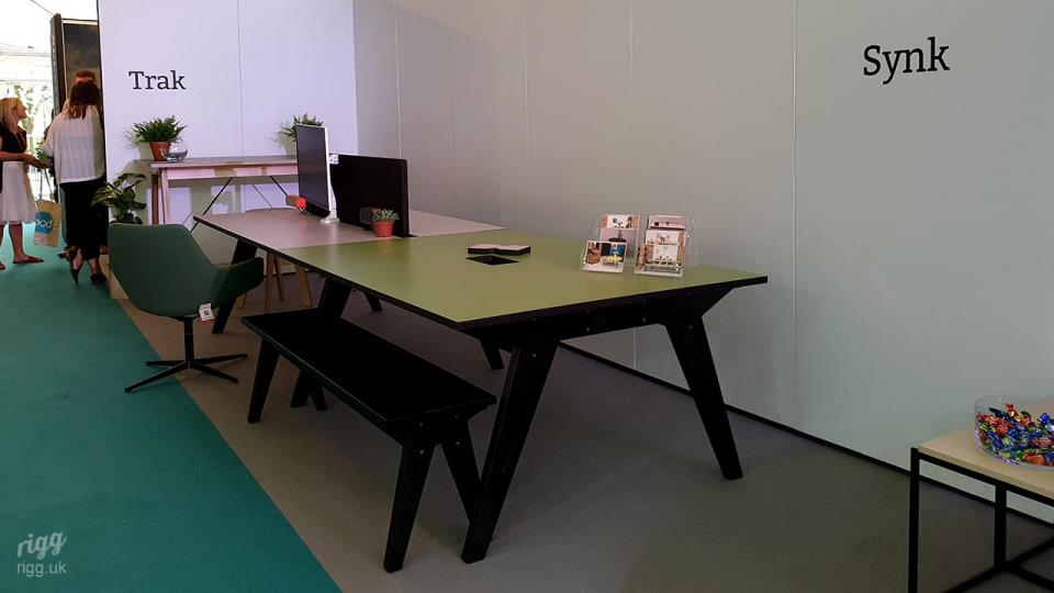 Synk Table & Bench with Black Legs at CDW 2019