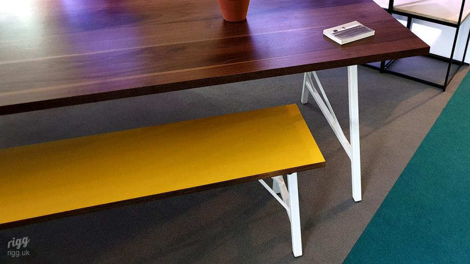 Trail Office Meeting Table with Bench