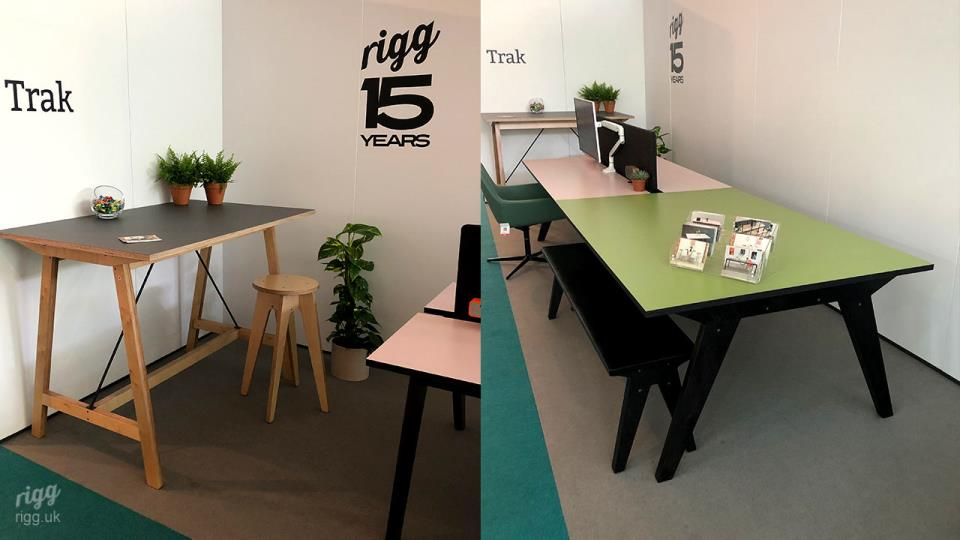 Trak High Plywood Table at CDW19