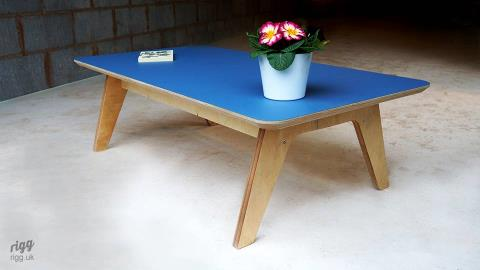 Synk Rectangular Plywood Coffee Table