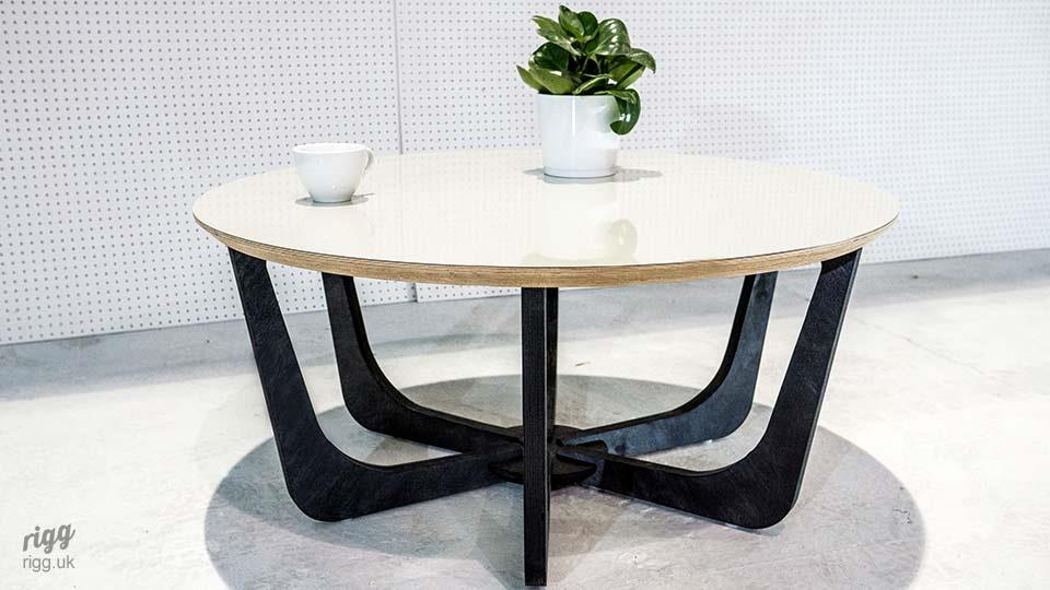 Birch Plywood Circular Coffee Table Formica Seed