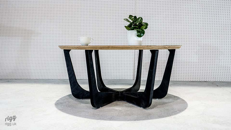 Black Birch Plywood Occassional Table