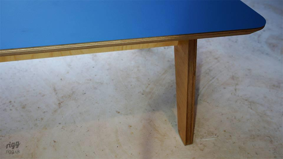 Coffee Table Formica Denim Blue