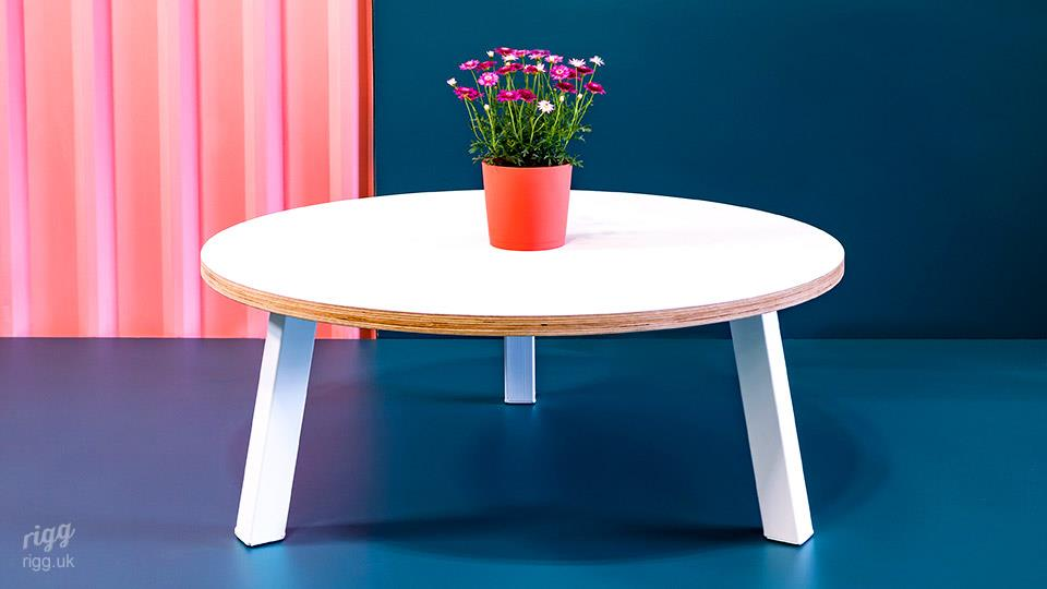 Contemporary Round Plywood Coffee Table