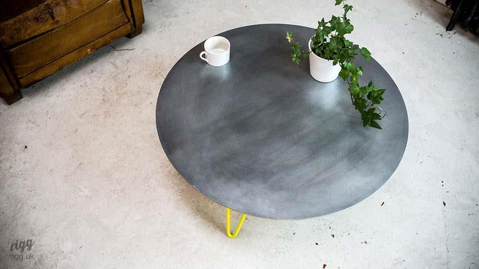 Funky Round Zinc Coffee Table