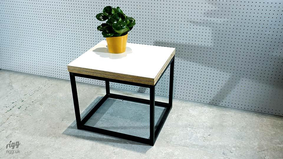 Grafik Cuboid Coffee Table with Thick Plywood Top