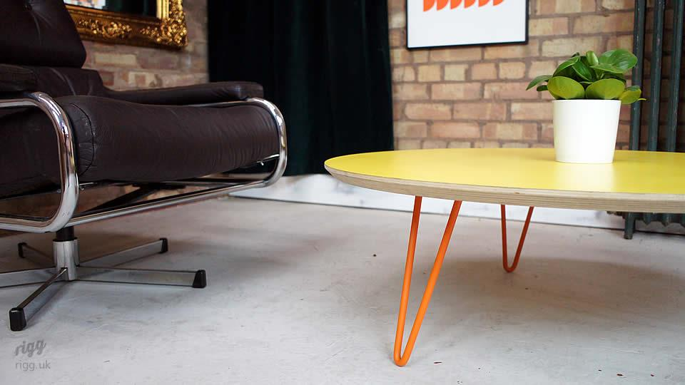 Hairpin Coffee Table Yellow