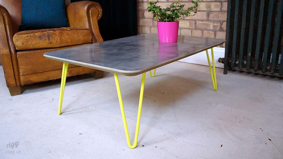 Hairpin Zinc Coffee Table