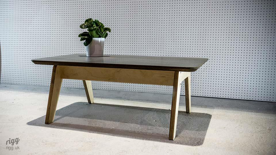 Plywood Coffee Table Zinc Top
