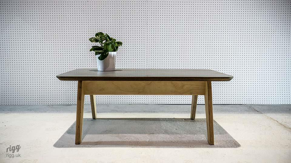Plywood & Zinc Coffee Table
