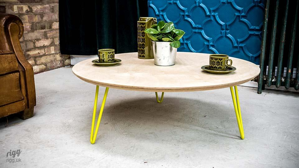 Round Coffee Table Hairpin Legs