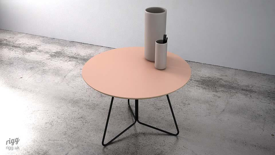 Round Pink Coffee Table
