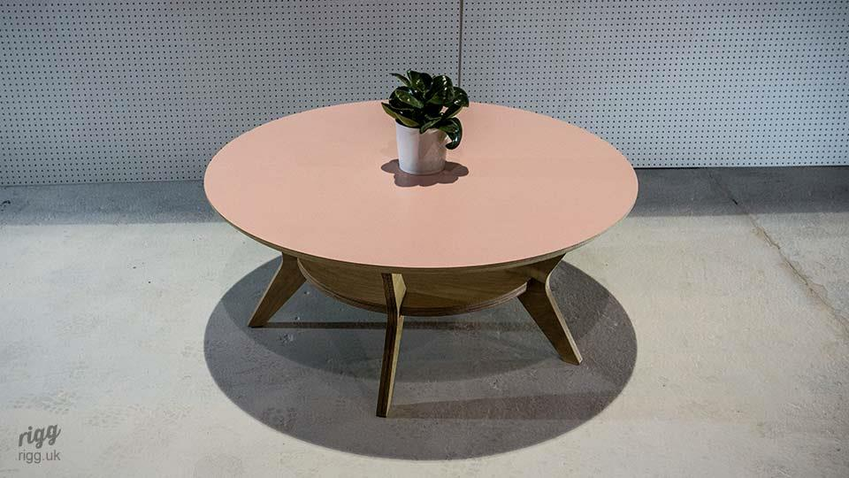 Round Plywood Coffee Table Laminate Top