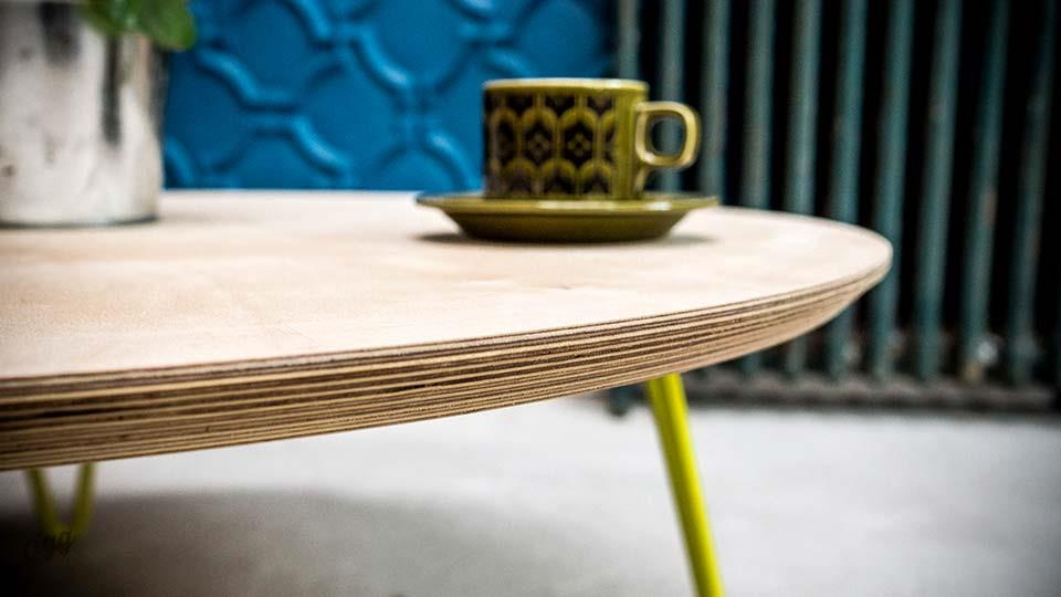 Round Scandinavian Coffee Table