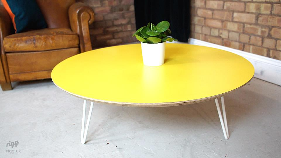 Round Yellow Coffee Table