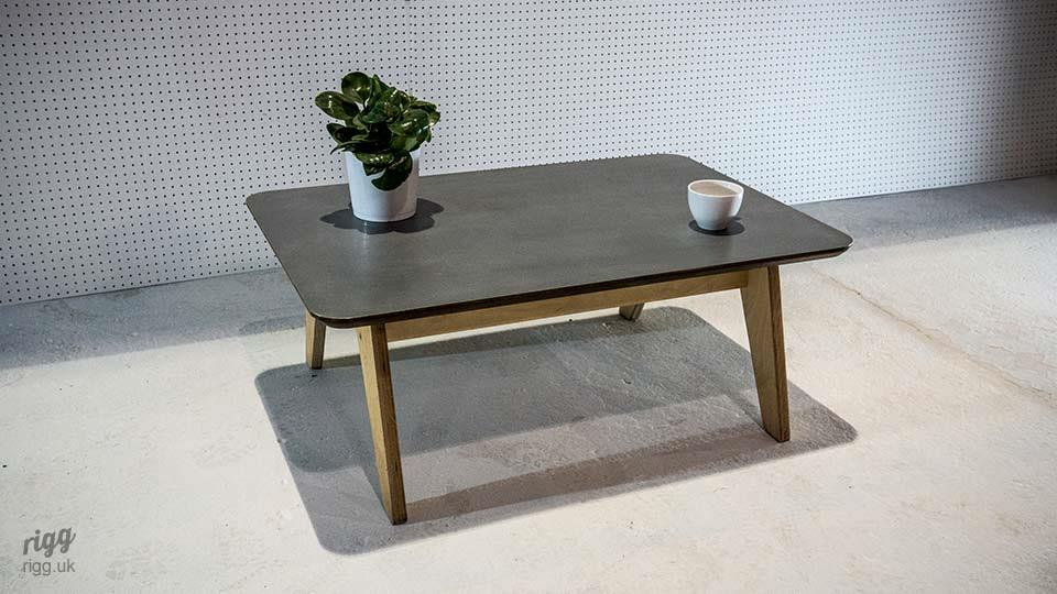 Synk Zinc & Plywood Coffee Table