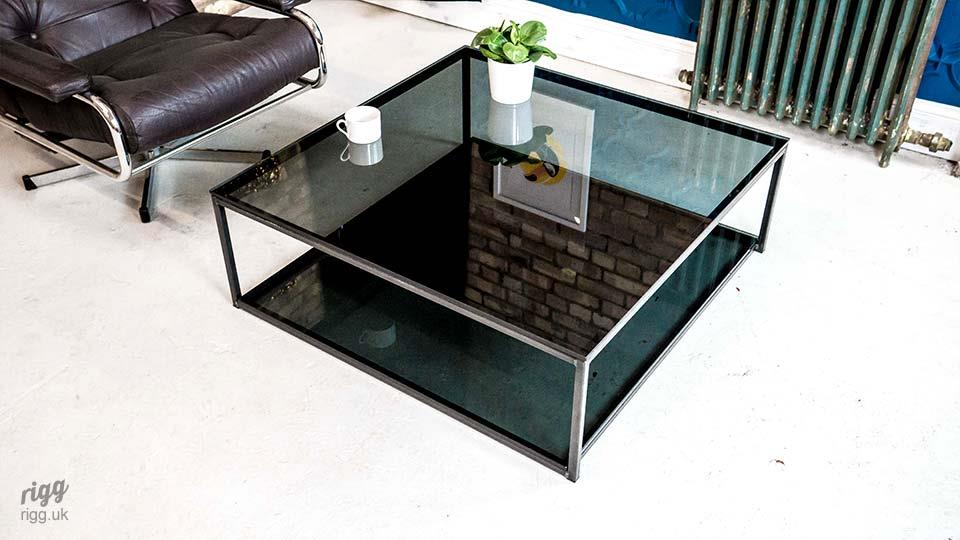 Tinted Square Glass Coffee Table
