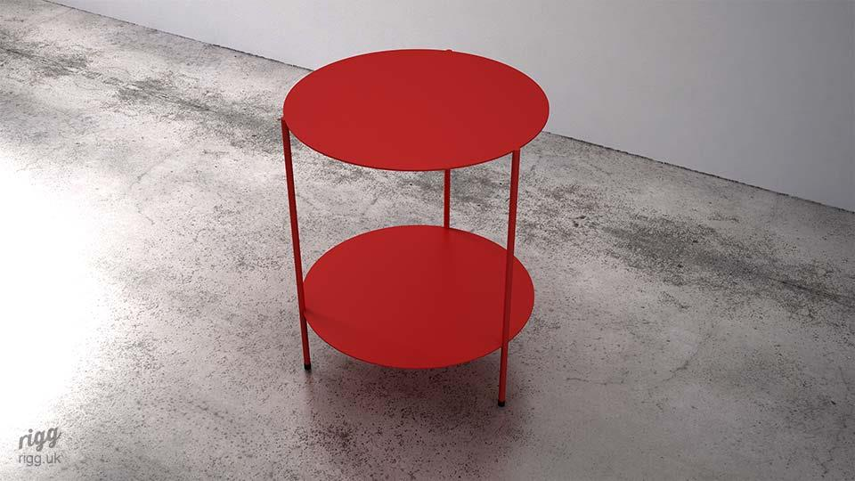 TwosCompany Side Table Red