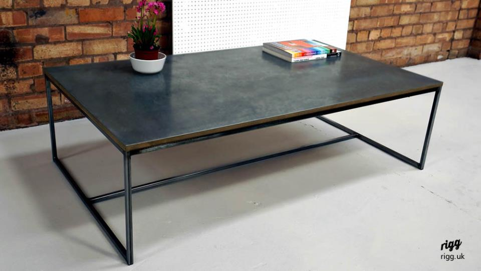 Lovely Zinc Top Coffee Table