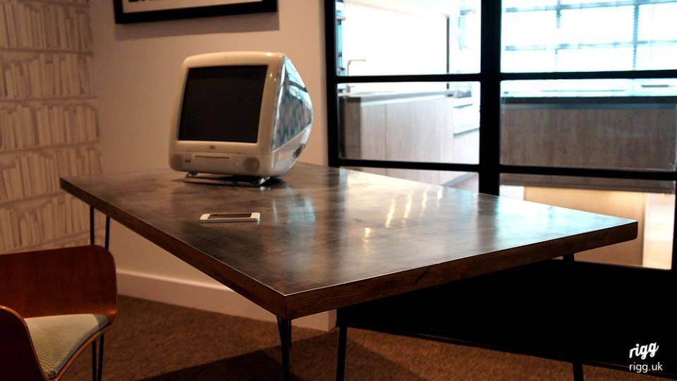 Desk with Zinc Top