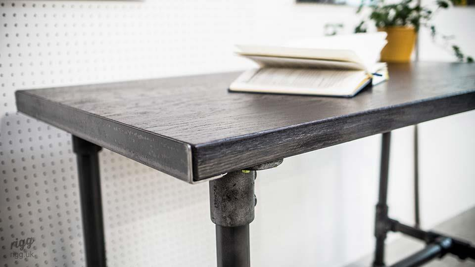 Industrial Desk with Pipe Legs