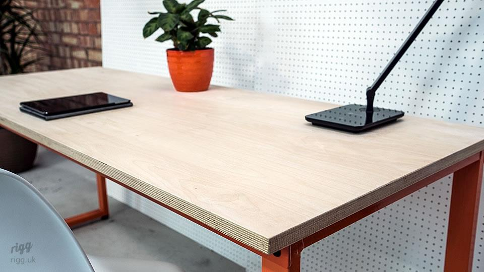 Plywood Desk Metal Legs