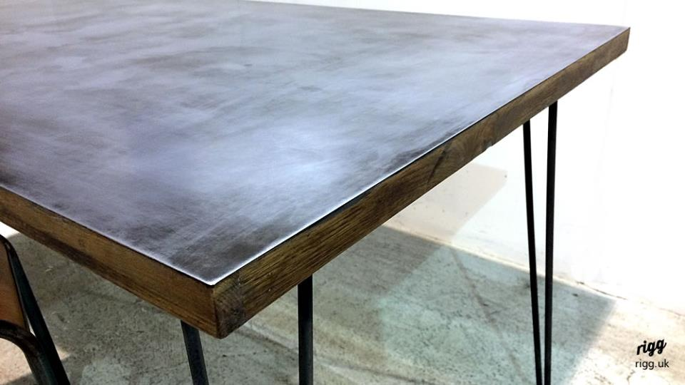 Zinc Hairpin Desk