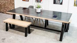 A-Frame Table - Zinc & Plywood Top