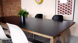 Black HPL Plywood Table