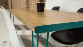 Blue Hairpin Legs Dining Table