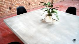 Concrete Dining Table Wooden Base