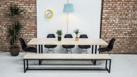 Dining Table & Bench Light Wood