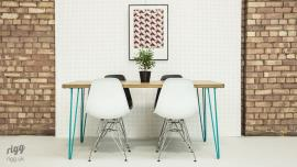 Coloured Hairpin Leg Table