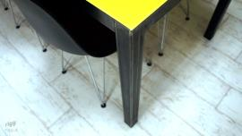 Industrial Coloured Glass Dining Table