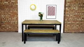 Industrial Dining Table 2 Benches