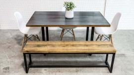 Loop Dining Table - Zinc Top