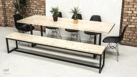Modern Dining Table & Bench