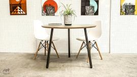 Modern Round Dining Table with Laminate Top