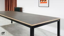 Modern Zinc Style Dining Table - Made in UK