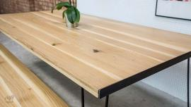 Oak Hairpin Dining Table