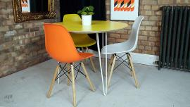 Round Yellow Dining Table