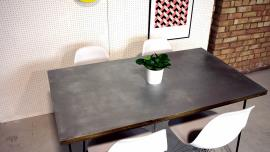 Zinc Hairpin Leg Table