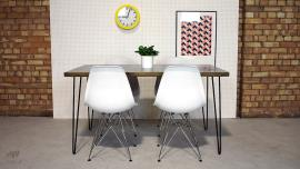 Zinc Top Hairpin Leg Dining Table