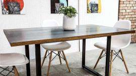 Zinc Top Table Metal Legs
