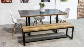 Loop Zinc & Oak Table
