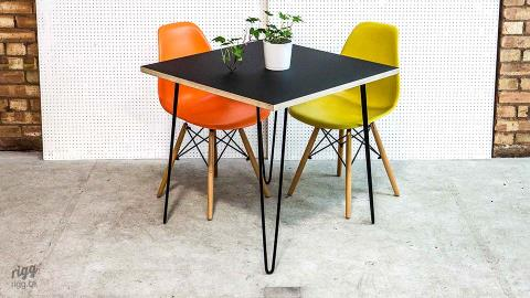 Hairpin Table - Plywood Top, Square Corners